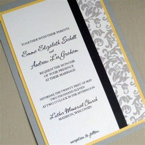 yellow wedding invitations damask wedding invitation grey and yellow sample package yellow weddings the grey and damasks