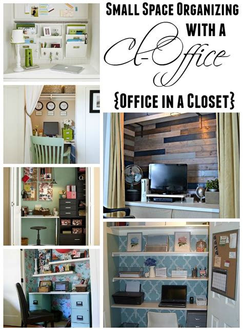 get organized in a small space with a cloffice office closet the housie