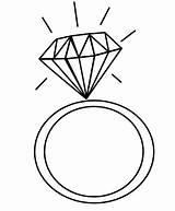 Coloring Ring Diamond Rings Heart Pages Elegant Drawing Sheets Dari Disimpan Coloringpagesfortoddlers Sketch sketch template