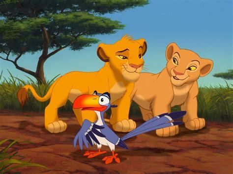 lion king cartoons parrot zazu simba  nala hd