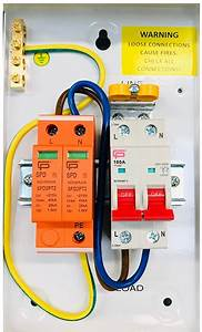 Spd2pt2 Fusebox Type 2 Surge Protection Device T2 For Tn