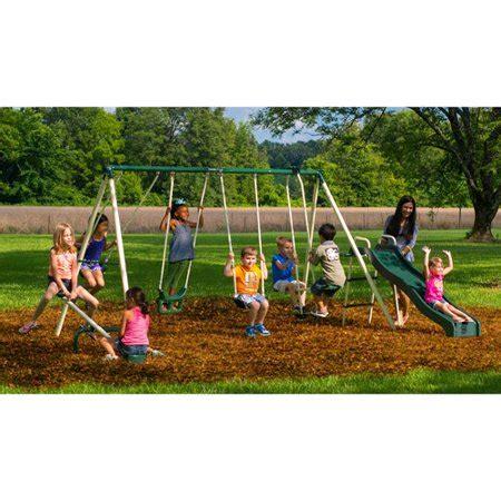 backyard swing sets walmart flyer backyard swingin metal swing set