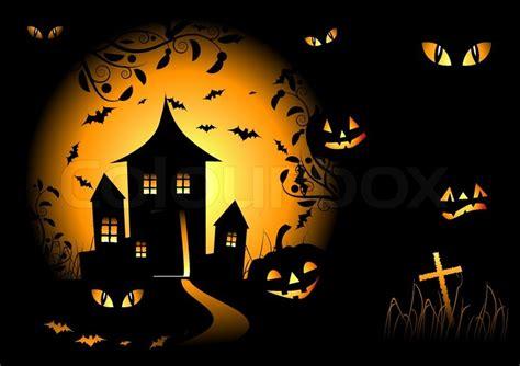 Pumpkin Spider Wiki by Halloween Nacht Hintergrund Vektor Illustration