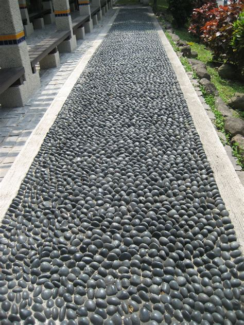 rock  feet   stone path created  massage