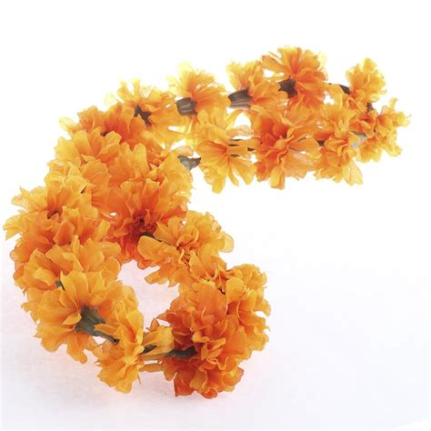 marigold garlands for sale artificial marigold floral lei garlands floral supplies craft supplies