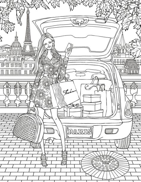 paris colouring page zentangles adult colouring
