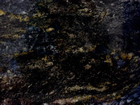 Black Cosmic South (Cosmic Gold), Granite Slabs Tiles from