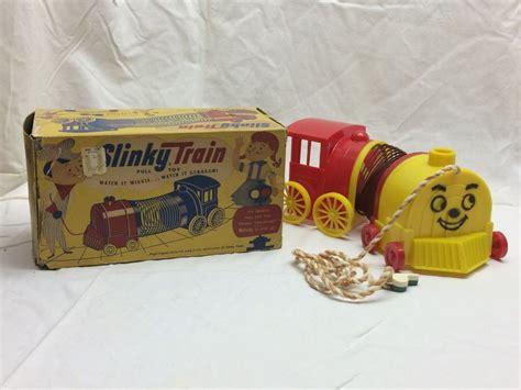 vintage slinky train pull toy james industries