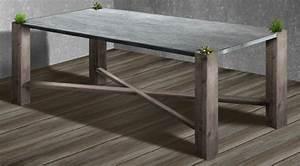 Table Beton Bois : design mobilier ~ Premium-room.com Idées de Décoration