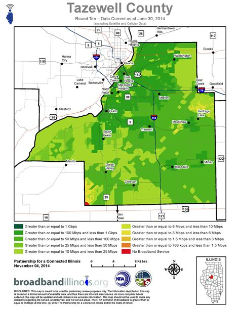 Tazewell County Maps — Broadband Illinois