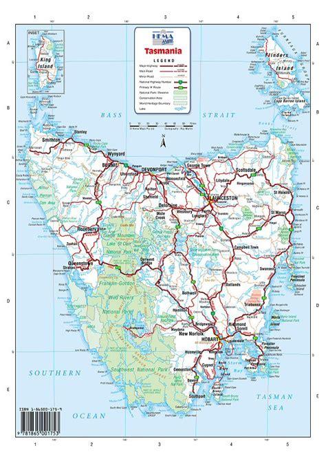 map  tasmania tasmania maps mapsofnet