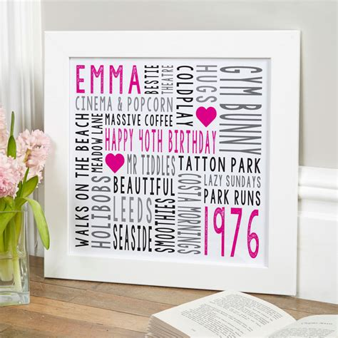 personalised typographic art prints canvases