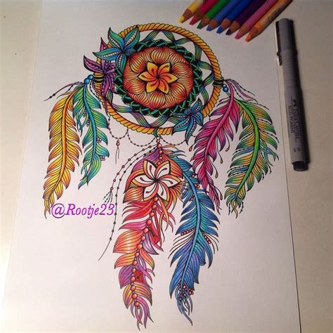 colorful dreamcatcher feather tattoo doodleart doodles