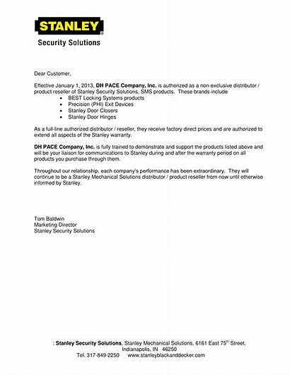 Distributor Letter Examples Authorization Official Pdf Example