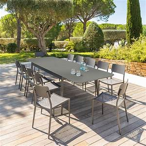 Table De Jardin 4 Personnes : table de jardin extensible iceland graphite hesp ride 12 places ~ Teatrodelosmanantiales.com Idées de Décoration
