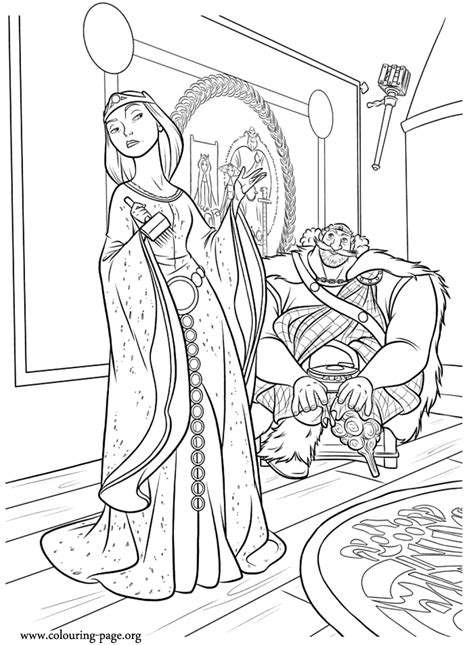 brave king fergus  queen elinor brave  coloring page