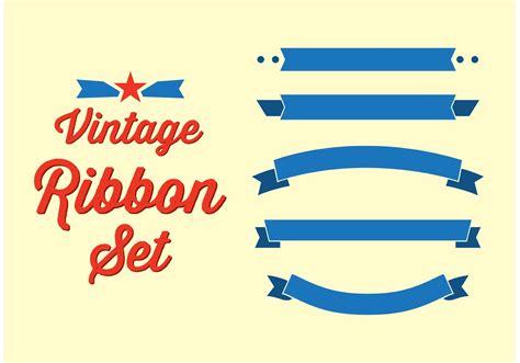 vintage ribbon set   vector art stock