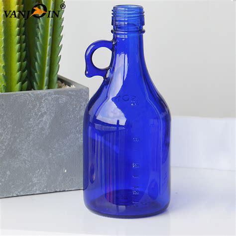 250ml 500ml 8oz 16oz Glass Cobalt Blue Beer Bottle With ...
