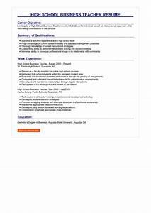 Sample Of Great Resume 2 High School Business Teacher Resume Samples