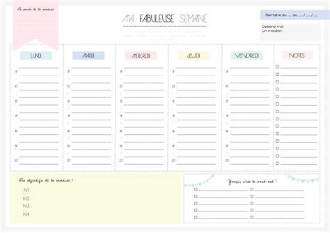 telecharger un bloc note pour le bureau planning de semaine et agenda à imprimer gratuitement