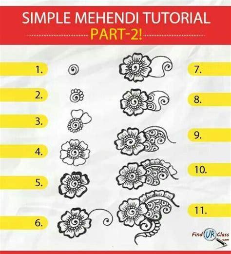 simple henna designs  hands step  step hijabiworld