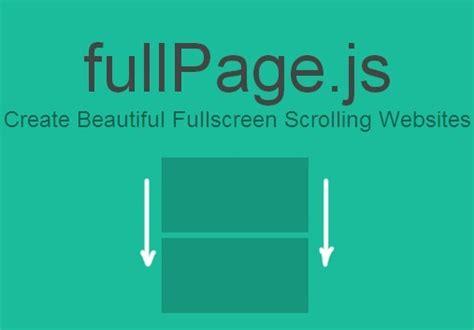 jquery plugin  fullscreen  page scrolling websites