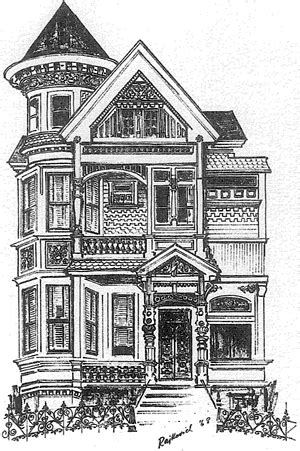 pics  victorian house illustration house