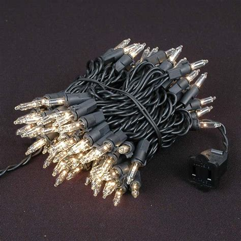 clear wire christmas lights clear christmas mini lights set 100 light black wire 22