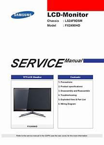 Manual De Servi U00e7o Monitor Samsung Fx2490hd Chssis