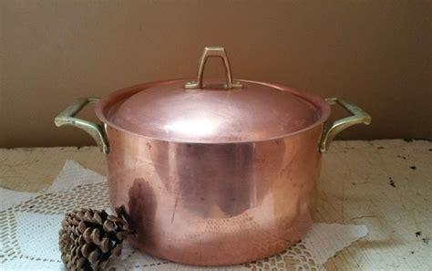 paul revere   quart copper pot vintage copper dutch oven cookware copper pots copper