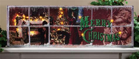 lighted christmas bells windows new radiance lighted canvas vintage christmas window large