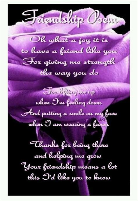 friendship poem  roses friendly thoughts pinterest