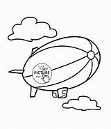 Coloring Pages Airship Transportation Wuppsy Printables Ship Airplane Tags sketch template