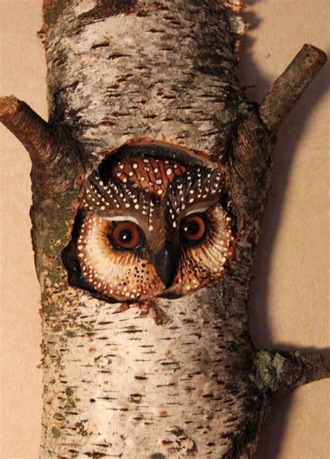 custom  owl carving wood wall art  donna maries art