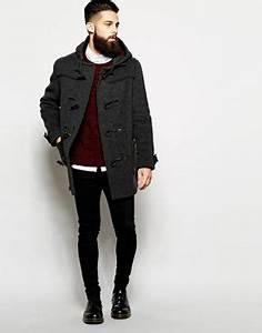 Duffle Coat Homme Celio : gloverall duffle coat with check hood gentleman mode homme et hommes ~ Melissatoandfro.com Idées de Décoration