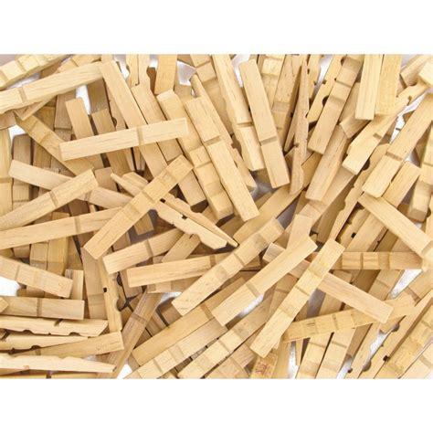 chaise en epingle a linge en bois 200 demi pinces à linge naturelles en bois