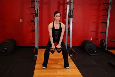 double clean kettlebell hang exercises alternating exercise