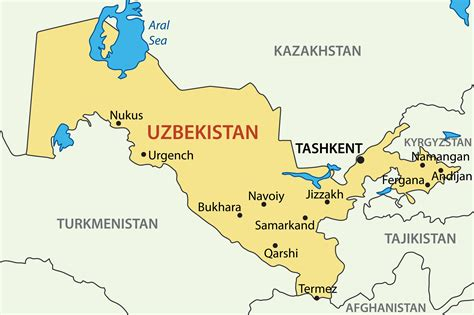 uzbekistan map  embassy  uzbekistan