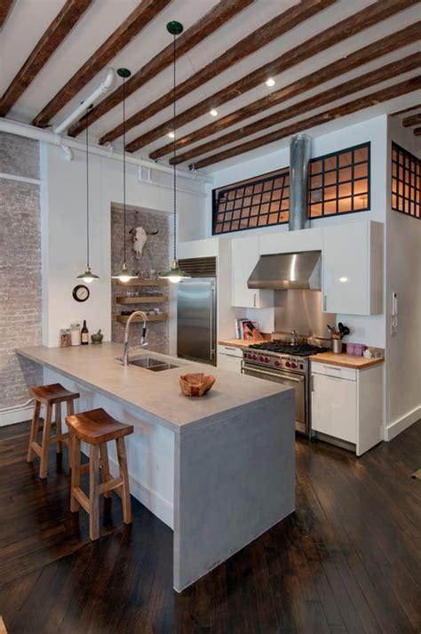 ideias  bancadas de cozinha em concreto  voce