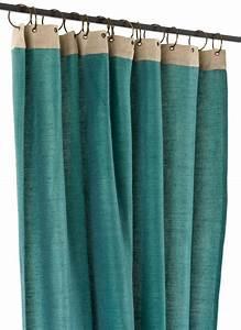Rideau Toile De Jute : jute rideau en toile bleu petrol ~ Teatrodelosmanantiales.com Idées de Décoration