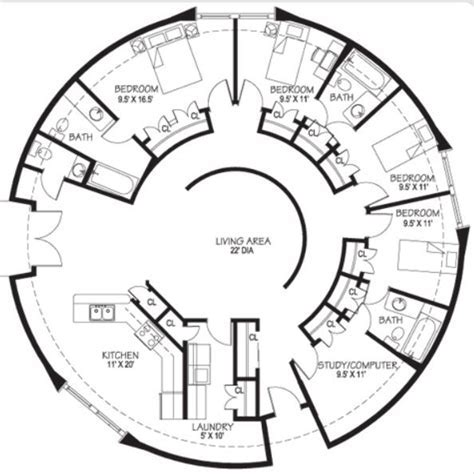Circular floor plan. Totally awesome, but definitely