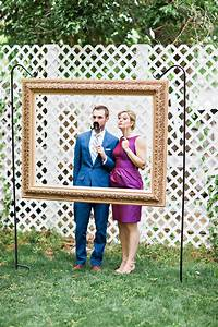DIY Hanging Frame Wedding Photo Booth Handmade and Homegrown