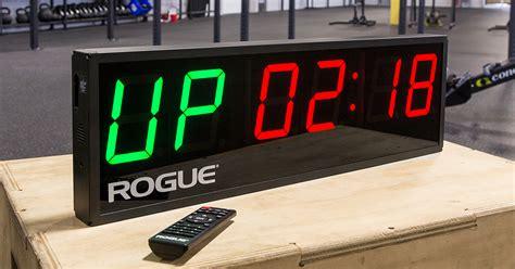 rogue echo gym timer wall clock rogue fitness