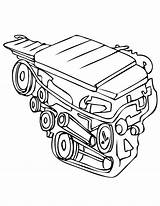 Engine Coloring Drawing Motor Cliparts Clip Sketch Train Steam Getdrawings Diesel Amazing Sheets sketch template