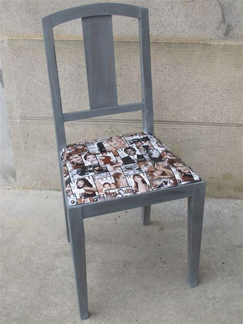 avec une chaise rénover une vieille chaise avec du skaï