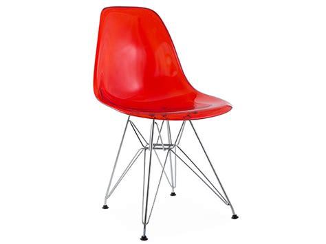 chaise eames transparente silla dsr rojo transparente