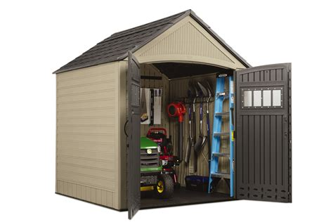 Rubbermaid Storage Shed Shelves by Rubbermaid 174 7 X 7 Resin Storage Building