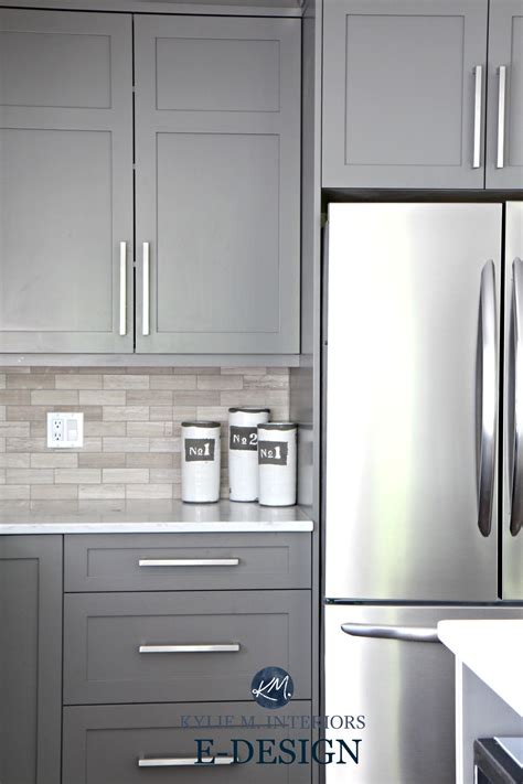 painted grey kitchen cabinets gray painted kitchen cabinets benjamin amherst gray 3974