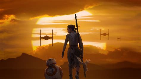 rey bb  star wars  force awakens wallpapers hd