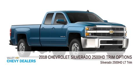 Chevy Silverado Trims by All 2018 Chevrolet Silverado 2500 Hd Trim Levels Compared